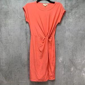 Ultra Flirt Juniors' Peach Orange Knotted Front
